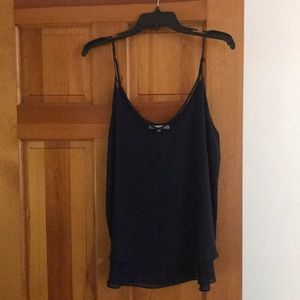 Violet & Claire navy tank